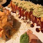 Longhorn sushi roll, Ashley Roll, Spicy Edamame