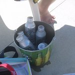 Beer in a bucket at the pool