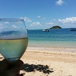 Taking in the view with a chilled glass of riesling