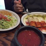 Mexican Enchiladas with side of rice