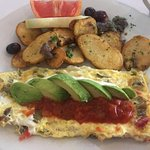 My daughter's choice of omlette