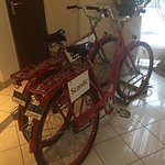 BIkes for hirer in the lobby!