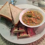 Salmon Chowder w/ Roast Beef Sandwich
