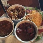 Sampler: red beans & rice, Jambalaya & gumbo