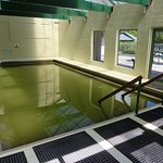 The large indoor thermal pool
