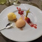 Sorbet abricot et campari orange