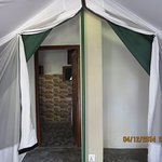 All tents with attached bathroom with 24 hrs. hot shower