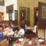 Inside the restauran