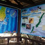 The information board of the island