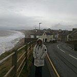 Fran enjoying the sunshine in Seascale Cumbria