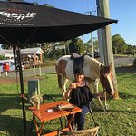 Great organic coffee, amazing view either car or horse , life is good