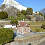 is also a miniature of an snowy mountain - typical for Swiss
