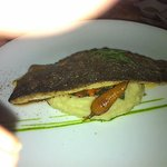 Pan Seared Himalayan Trout - Smoked Fish Brandade, Shallot and butter Sauce, glazed Baby Carrots