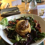 Goats cheese in filo pastry and chutney salad