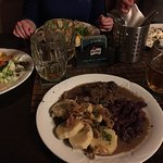Some delicious wild boar with red cabbage and potato dumplings...and of course lots and lots of