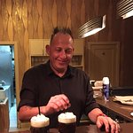 Emilio made a perfect (and hot) Spanish coffee