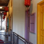 Colorful doors of rooms