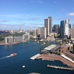 Circular Quay ferries from the pylon lookout