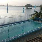 Pool and lake view, nice!
