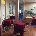 The lovely common area, the extensive snack bar, and some photos of the suite, room #6.