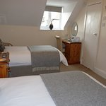 This is Room 4 - 2nd floor twin room with views of the Conwy Mountains