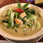 Green Curry with vegetables and tofu