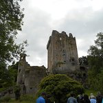 Looking up at the spot where the Blarney Stone is located
