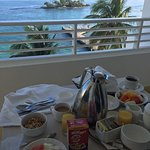 Room Service Breakfast from our Balcony