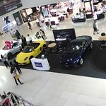 Sports Cars On Display At the Mall