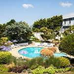 The Atlantic Hotel Jersey set in 6 acres of private grounds overlooking St Ouens Bay