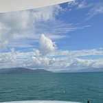 view from the top of the boat