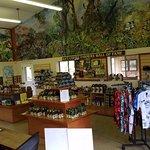 spacious gift shop...