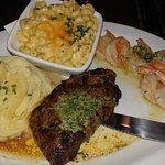 Top Sirloin with Shrimp Scampi