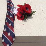 My own Tribute..... Poppies and my RAF CHANGI TIE... Wonder if it is still there