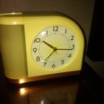 vintage alarm clock in the room