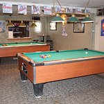 Our Pool Room inside The Loose Wolf Saloon