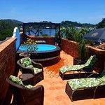 Terraza privada de la suite Loft