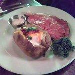 Prime Rib Steak Plate with Everything Bake Potato