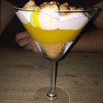 Lovely lemon meringue pudding... maybe a tiny bit too much lemon!!