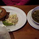 Beef brisket with slaw and green beans