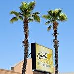 Apache Gold Casino sign.