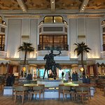 The landmark opulent lobby of the Gh with the rotating horse