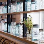 Glass Bottle Shelf Decor