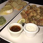 Appetizers - fried cheese and calamari
