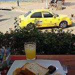 El desayuno, con una hermosa vista