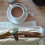 Stockbridge sausage baguette