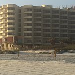 Seascape Restaurant is on the beach and in the Best Western Hotel & Suites.  Steps lead from bea