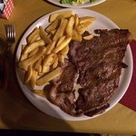 Horse steak and fries