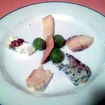 Assiette de fromages assortis