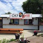 OKF Grill in the Jewel of the Okanagan,  Oyama BC. Beach and Rail Trail Access